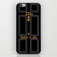 221b iPhone & iPod Skins featuring 221B by Cécile Pellerin