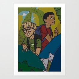 Alex and Nicholas Explore Art Print