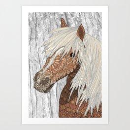 Haflinger Horse Kunstdrucke