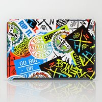 sticker iPad Cases featuring Sticker Collage by Chris Klemens