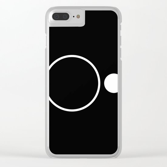 Emptiness - Black and White Minimalism Clear iPhone Case