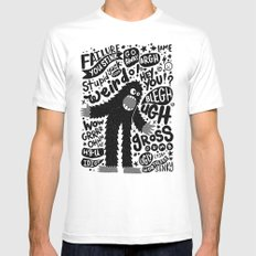 internal monologue White Mens Fitted Tee MEDIUM