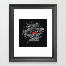 Run with the pack Framed Art Print