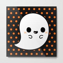 Cute spooky ghost Metal Print