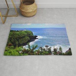 Kilauea Point Lighthouse Kauai by Reay of Light Rug