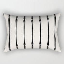 Minimal Triangles - Black & White Rectangular Pillow