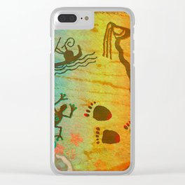 Cave Dwelling Native American Clear iPhone Case