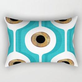 Eye Pod Turquoise Rectangular Pillow