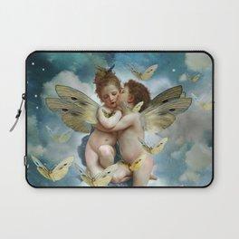 """Angels in love in heaven with butterflies"" Laptop Sleeve"
