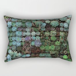 Field of Succulents Rectangular Pillow