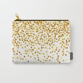 Gold falling confetti Carry-All Pouch