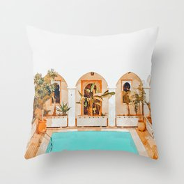 Turkish Holiday #painting #travel Throw Pillow