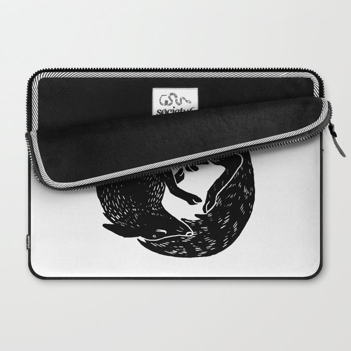 black and white thoughts Laptop Sleeve