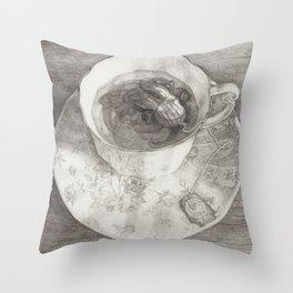 Teacup Octopus Throw Pillow