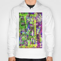 boyfriend Hoodies featuring BOYFRIEND SWEATS(violet & lime) by Glint & Lime Art