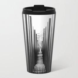 Holocaust memorial Geometry Travel Mug