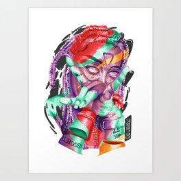 DARK QVEEN Art Print