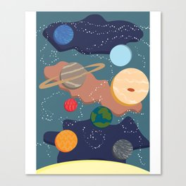 Offset Solar System Canvas Print