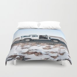 Day out shoting in Iceland Duvet Cover