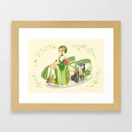 Scandi Sweets - Prinsesstårta Framed Art Print
