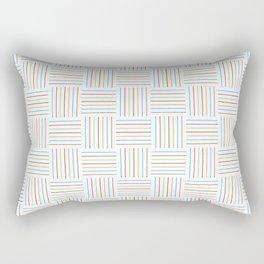 Bright and Light Festive Weave Rectangular Pillow