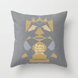 Fragments: The Man, The Lion & The Falcon Throw Pillow