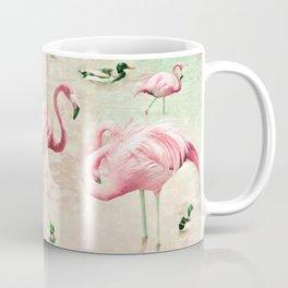 Flamingos Vintage Pink  Coffee Mug