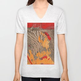 The tree of life gold abstract Unisex V-Neck