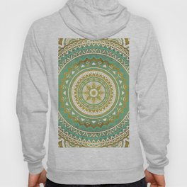 Teal and Gold Mandala Hoody