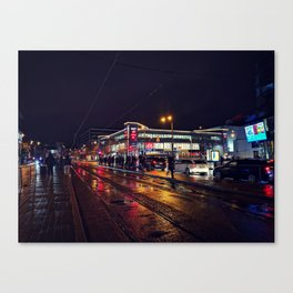 Rainy City Nights Canvas Print