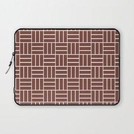 Basketweave (White & Brown Pattern) Laptop Sleeve