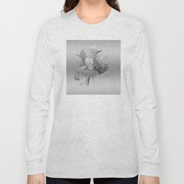 50 Shades of lace Silver Silver Long Sleeve T-shirt