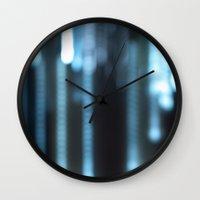 rain Wall Clocks featuring Rain by Moiz Merchant