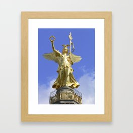 Victory column (Siegessaeule), Berlin Framed Art Print