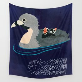 Pied-Billed Grebe says... Wall Tapestry