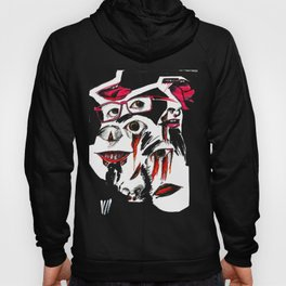 Face collage Hoody