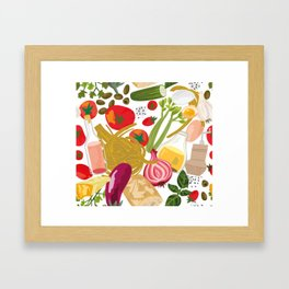 Fresh Italian Market Food Framed Art Print