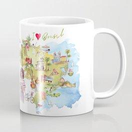 Brasil Map Coffee Mug
