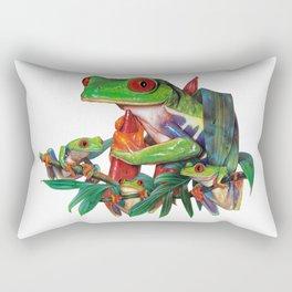 Red-Eyed Tree Frogs Rectangular Pillow