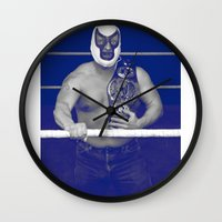 pain Wall Clocks featuring Pain by Mark James
