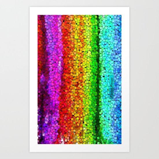 Falling Cube. Art Print