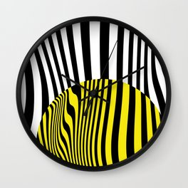 Yellow Circle Abstract Wall Clock