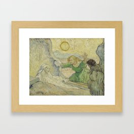 The Raising of Lazarus (after Rembrandt) Framed Art Print