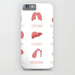 Organs guts intestines doctor medics gift iPhone Case