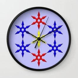 Shuriken Design Wall Clock