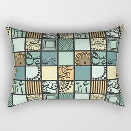 Squares-Dark Rectangular Pillow