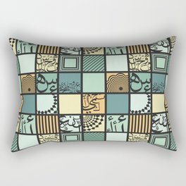 Squares-Dark Rectangular Pillow