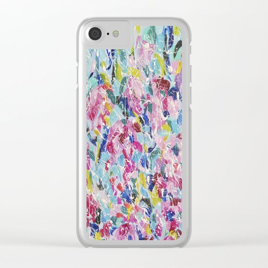 Abstract floral painting 2 Clear iPhone Case