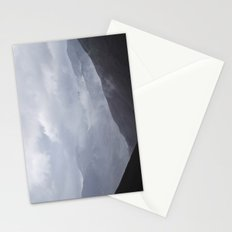 Rain clouds rolling through the mountains. Cumbria, UK. Stationery Cards