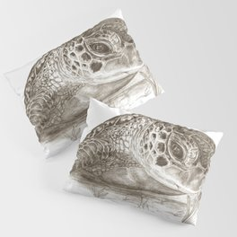 A Green Sea Turtle :: Earthtones Pillow Sham